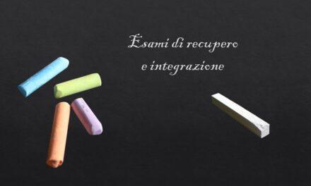 Esami di recupero e integrazione