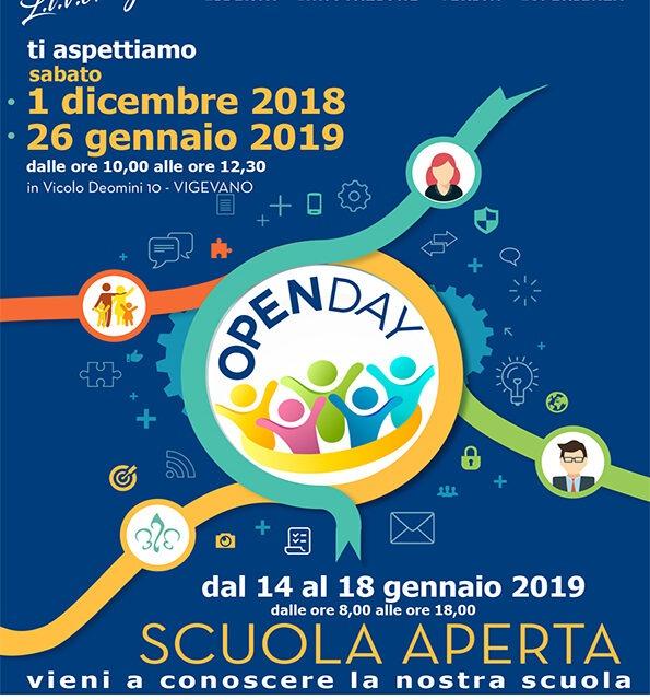 Scuola aperta e open day d'Istituto – gennaio 2019